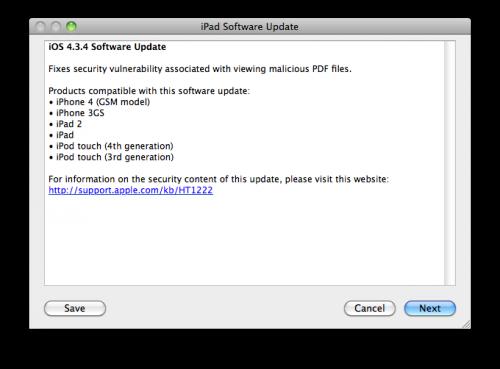 Upgrade iOS 434