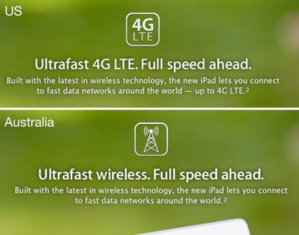 4a1271d3c تحدثنا سابقاً عن الآي باد الجديد وأن ميزة ال 4G لن نستفاد منها لأنها مخصصة  للسوق الأمريكي والكندي فقط وأن ترددات ال 4G تختلف من دولة لأخرى وأبل في  جهازها لا ...