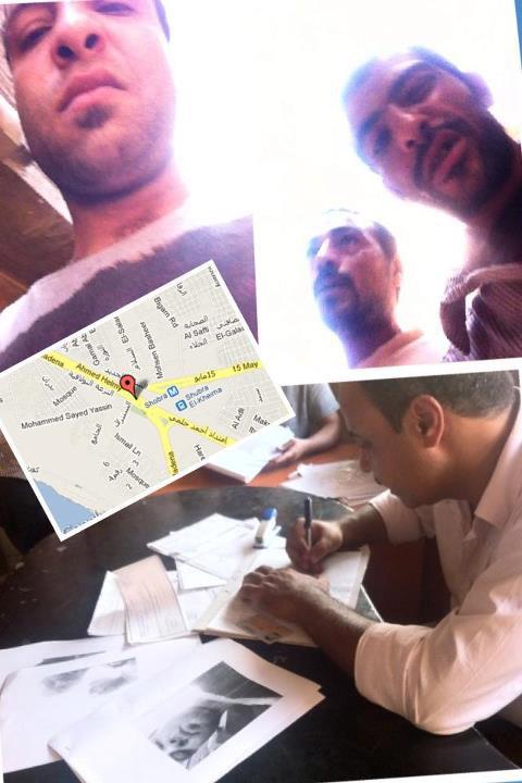 صور حقيقية للصوص و في الأسفل صورة للظابط عند تحرير المحضر